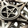 Pentagram with reflection macro shot — Stock Photo