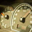Closeup of a speed meter of a car — Stock Photo