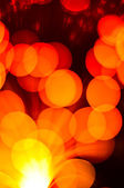 Out of focus lights in orange — Stock Photo