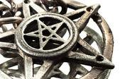 Pentagram with reflection macro shot — Stock Photo