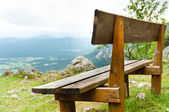 Picnic area in mountains — Stock Photo