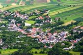 A small town sorrunded by fields in Austria — Stock Photo