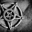 Stock Photo: Pentagram in hand macro shot