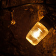 Stock Photo: Old electric light in cavern