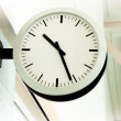 White clean clock showing the time — Stock Photo