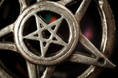Pentagram with reflection macro shot — Stok fotoğraf