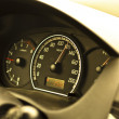 Closeup of a speed meter of a car - Stock Photo