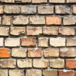 Abandoned brick wall texture — Foto Stock