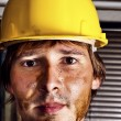 Worker in yellow helmet — Stock Photo