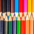 Colorful pencils closeup macro shot — Stock Photo