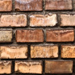 Texture of a brick wall — Stockfoto