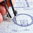 Fingers of an architect drawing a new home — Stock Photo #6733649