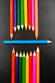 Conceptual photo of some pencils representing a mouth — Stock Photo