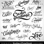 Holiday greeting headlines (vector) — Stock Vector