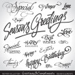 Royalty-Free Stock Vector Image: Holiday greeting headlines (vector)
