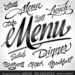 Royalty-Free Stock Vector Image: Menu headlines (vector)