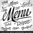 Stock Vector: Menu headlines (vector)