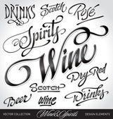 Beverage headlines (vector) — Stockvektor