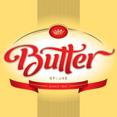Butter packaging design (vector) — Stock vektor