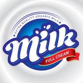 Milk packaging design (vector) — Stockvector
