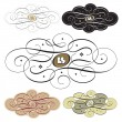 Calligraphic swirl set (vector) — Stock Vector