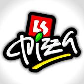 Lettering la pizza a mano (vettore) — Vettoriale Stock