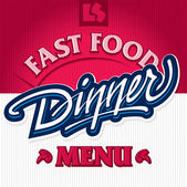 Dinner hand lettering design (vector) — Vettoriale Stock