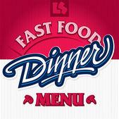 Dinner hand lettering design (vector) — Stockvector