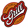 Grill hand lettering design (vector) — Stock Vector