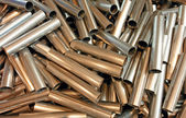 Kapade metallrör — Stockfoto