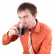 The young man drinks coffee — Stock Photo #5667939