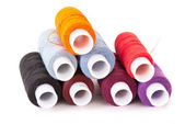 Multi-colored threads of a mouline thread — Stock Photo