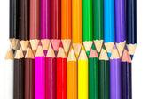 Barevné tužky izolované na bílém — Stock fotografie