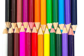 Color pencils isolated on white — Stockfoto