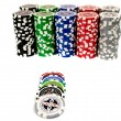Ultimate poker chips on white background — Stock Photo