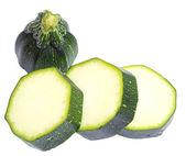 Zucchini isolated on white — Stock Photo