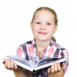 Little girl with book — Stock Photo #6233819
