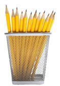 Bleistifte in den stifthalter — Stockfoto
