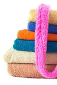 Terry Towels on white — Stock Photo