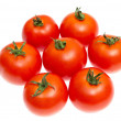 Stock Photo: Red tomatoes isolated on white
