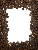 Frame from coffee beans — Stock Photo