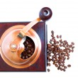 Coffee grinder with coffee beans — Stock Photo #6382005