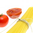Spaghetti of isolated on white background — Stock Photo