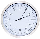 Wall Clock isolated on white — Stock Photo