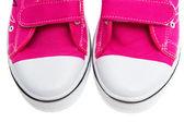 Beyaz arka plan üzerinde izole pembe spor ayakkabı — Stok fotoğraf