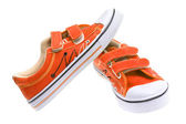 Orange sneakers isolated on white background — Стоковое фото