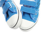 Blue sneakers isolated on white background — Стоковое фото