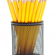 Pencils in pencil holders — Stock Photo