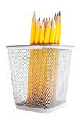 Bleistifte in stifthalter — Stockfoto