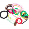 Stock Photo: Hair elastics on white